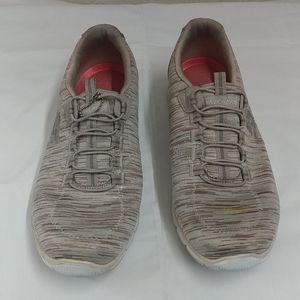 Sliver Skechers Wide fit Women's Slip ons Size 8.5